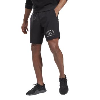 Reebok WOR WOVEN GRAPHIC SHORT, muški šorc za fitnes, crna