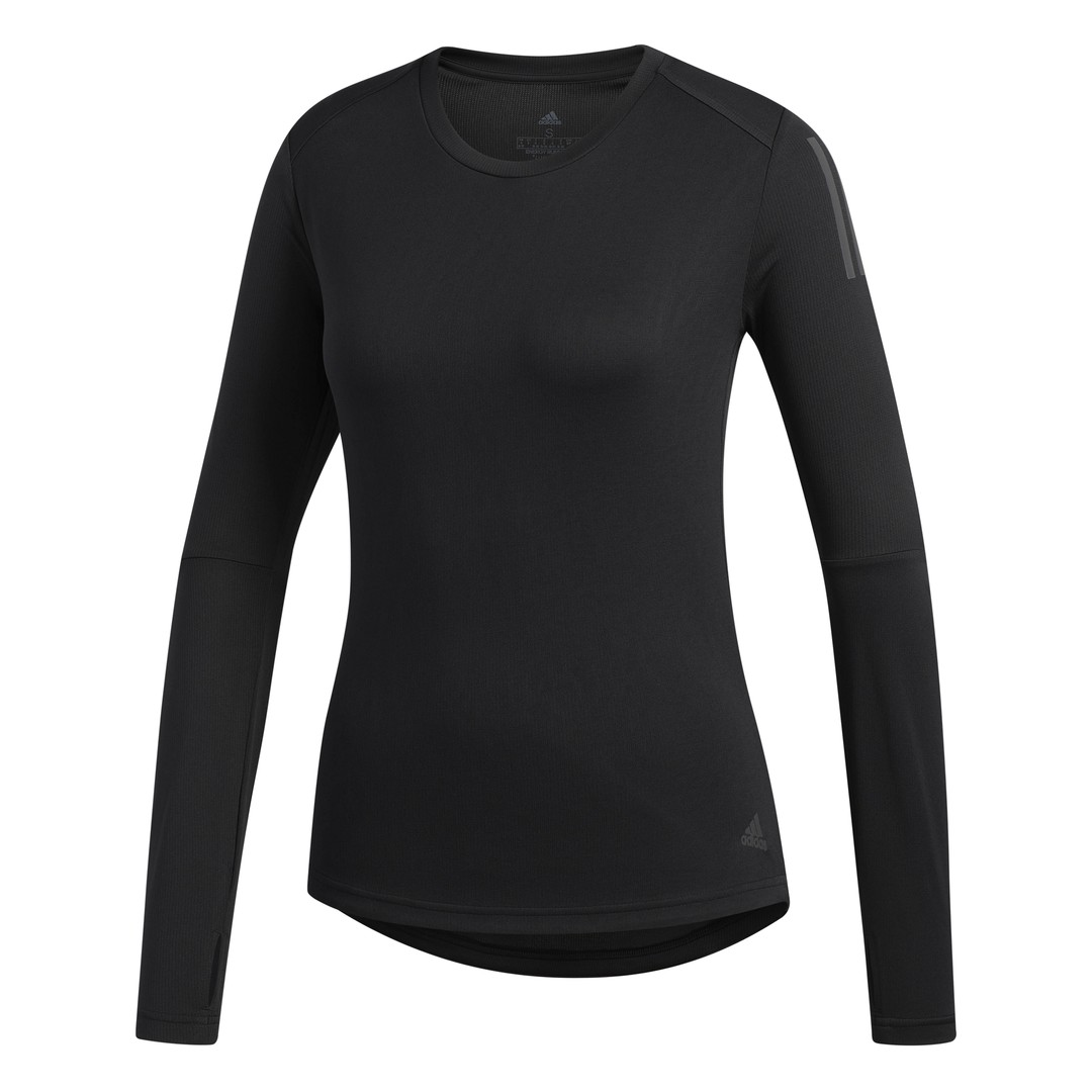 adidas OWN THE RUN LS, ženska majica dugi rukav za trčanje, crna