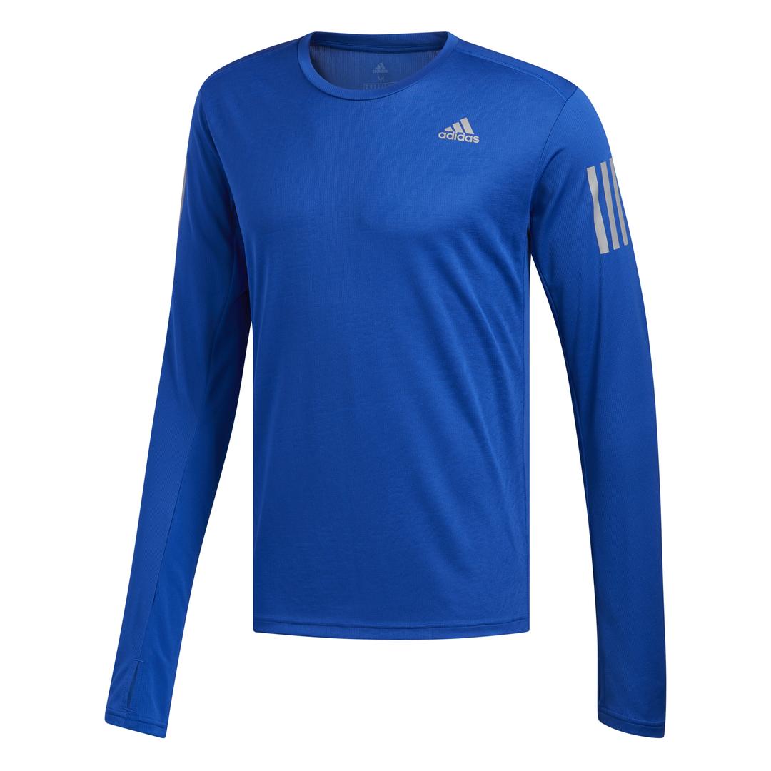 adidas OWN THE RUN LS, muška majica dugi rukav za trčanje, plava