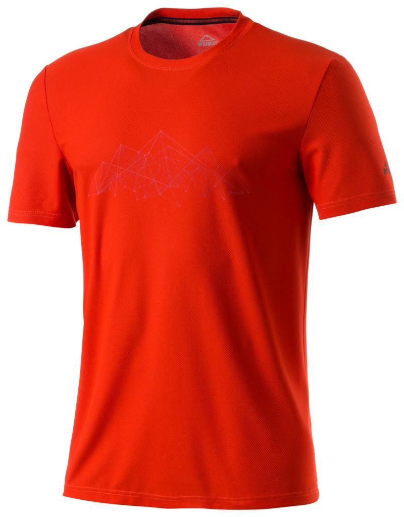 McKinley KLAY UX, muška majica za planinarenje, crvena