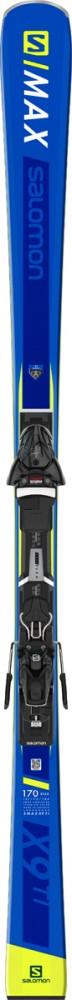 Salomon S/MAX X9 TI+Z12 GW, set skija allround, plava